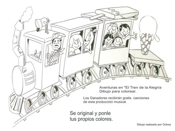 Tren de la alegria para colorear - Imagui